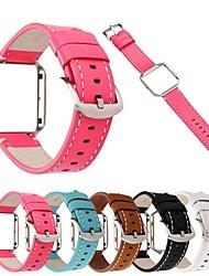 economico -Cinturino per orologio  per Fitbit Blaze Fitbit Cinturino di pelle Vera pelle Custodia con cinturino a strappo