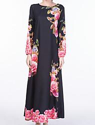 Žene Korice Haljina - Osnovni, Jednobojni Cvjetni print