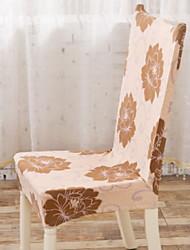 preiswerte -Moderne 100% Polyester Jacquard Stuhlabdeckung, Einfache Blumen Bedruckt Überzüge