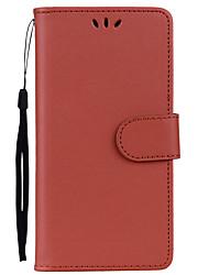 abordables -Funda Para Samsung Galaxy A7(2017) / A5(2017) Soporte de Coche / con Soporte / Flip Funda de Cuerpo Entero Un Color Dura Cuero de PU para A3 (2017) / A5 (2017) / A7 (2017)