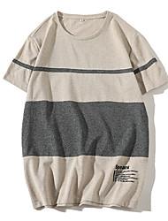 Majica s rukavima Muškarci - Osnovni Ulični šik Jednobojni Prugasti uzorak Color block