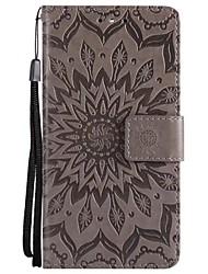 Недорогие -Кейс для Назначение Sony Xperia Z5 / Xperia Z5 Mini Кошелек / Флип Чехол Однотонный Твердый Кожа PU для Sony Xperia Z3 / Sony Xperia Z3 Mini / Sony Xperia Z4