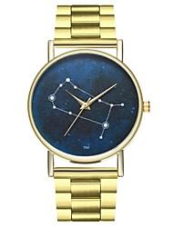 baratos -Mulheres Chinês Cronógrafo / Relógio Casual / Fase da lua Aço Inoxidável Banda Fashion Dourada / SSUO LR626