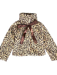 cheap -Girls' Daily Holiday Leopard Jacket & Coat, Cotton Fall Long Sleeves Cute Brown