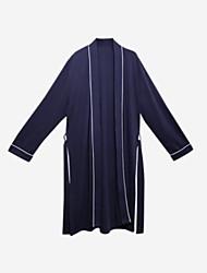 baratos -Homens Decote V Conjunto Pijamas Sólido