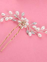 cheap -Imitation Pearl Rhinestone Hair Stick with Imitation Pearl 1pc Wedding Headpiece