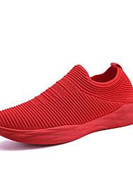 preiswerte -Unisex Schuhe Tüll Frühling / Herbst Leuchtende Sohlen / Komfort Sneakers Flacher Absatz Runde Zehe Geflochtene Riemchen für Draussen