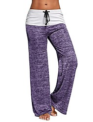 cheap -Yoga Pants Bottoms Trainer Yoga Fast Dry Fitness Mid Waist Micro-elastic Sports Wear Women's Yoga Exercise & Fitness