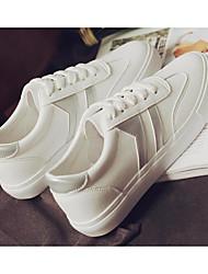 povoljno -Žene Cipele Sintetika, mikrofibra, PU Proljeće Jesen Udobne cipele Sneakers Niska potpetica za Kauzalni Bijela/plava Bijela/srebrna
