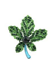 baratos -Broches - Formato de Folha Básico, Fashion Broche Verde / Azul / Cores Sortidas Para Diário / Encontro