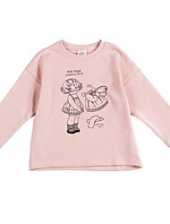 cheap -Kids Girls' Print Long Sleeves Hoodie & Sweatshirt