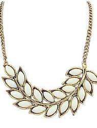 Недорогие -Ожерелья с подвесками - В форме листа Милая, Элегантный стиль Белый, Розовый 42 cm Ожерелье Назначение Свадьба, Для вечеринок