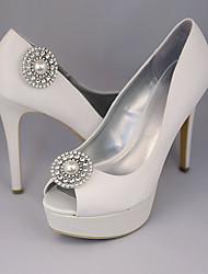 baratos -2pçs PVC Acessórios Decorativos Mulheres Todas as Estações Casamento Férias Prata