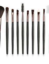cheap -10pcs Makeup Brushes Professional Makeup Brush Set / Eyeshadow Brush / Lip Brush Nylon Full Coverage Plastic