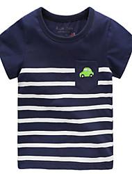 povoljno -dječakova prugasta čizmica, pamučna ljetna mornarica plava zelena