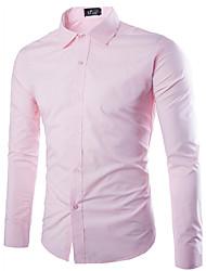 Недорогие -Муж. Рубашка Активный Однотонный