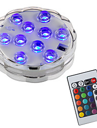 cheap -BRELONG® 1pc 2W Underwater Lights Remote Controlled Waterproof Decorative Swimming pool RGB 5.5V