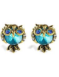 abordables -Femme Aigue-marine synthétique Boucles d'oreille goujon - Gemme Chat, Animal Bleu Pour Quotidien Sortie