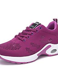 abordables -Mujer Zapatos Punto Primavera / Verano Confort Zapatillas de Atletismo Running Tacón Plano Morado / Rojo / Rosa