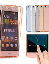cheap -Case For Huawei P10 Lite P10 Plus Ultra-thin Translucent Full Body Cases Solid Colored Soft TPU for P10 Plus P10 Lite P10 P9 lite mini