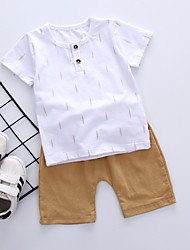 preiswerte -Baby Jungen Solide Kurzarm Kleidungs Set / Schick & Modern