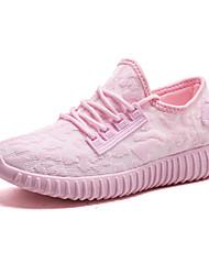Недорогие -Жен. Обувь Трикотаж Весна / Лето Удобная обувь Спортивная обувь Беговая обувь На плоской подошве Белый / Черный / Розовый