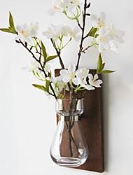 Недорогие -Искусственные Цветы 1 Филиал Деревня / Простой стиль Ваза Цветы на стену / Одноместный Ваза