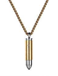 cheap -Men's / Women's Pendant Necklace - Stainless Steel Fashion Gold, Black, Silver 55 cm Necklace Jewelry For Daily
