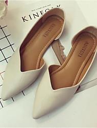 povoljno -Žene Cipele Koža Proljeće Jesen Udobne cipele Ravne cipele Ravna potpetica za Kauzalni Crn Braon Badem