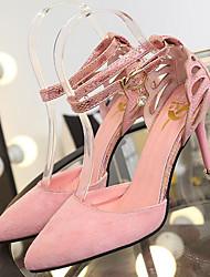povoljno -Žene Cipele PU Proljeće Jesen Obične salonke Udobne cipele Cipele na petu Stiletto potpetica za Kauzalni Crn Sive boje Pink