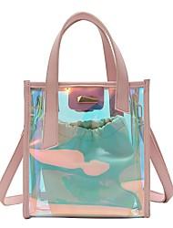 baratos -Mulheres Bolsas PVC / PU Conjuntos de saco 2 Pcs Purse Set Botões Preto / Arco-íris