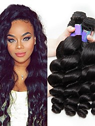 cheap -Peruvian Hair Wavy Virgin Human Hair Headpiece / Natural Color Hair Weaves / Tea Party Favors 6 Bundles Human Hair Weaves Waterfall / Soft / Hot Sale Natural Black Human Hair Extensions Women's