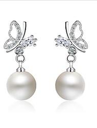 cheap -Drop Earrings / Hoop Earrings - Asian, European, Korean Silver For Wedding / Daily