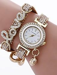 Недорогие -Жен. Кварцевый Имитационная Четырехугольник Часы Часы-браслет Повседневные часы Китайский Имитация Алмазный Повседневные часы PU Группа