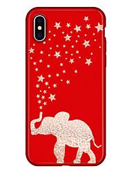 economico -Custodia Per Apple iPhone X iPhone 8 Plus Fantasia / disegno Per retro Elefante Cartoni animati Morbido TPU per iPhone X iPhone 8 Plus