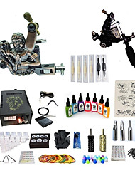 Недорогие -Татуировочная машина Набор для начинающих татуировки машины с 7 x 15 ml татуировки чернила, Переменные скорости, Для профессионалов LCD