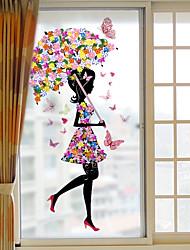 Недорогие -Оконная пленка и наклейки Украшение Современный 3D-печати ПВХ / винил Стикер на окна / Матовая