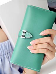 baratos -Mulheres Bolsas Couro PU / Couro de Poliuretano Sling sacos de ombro Botões Verde / Rosa