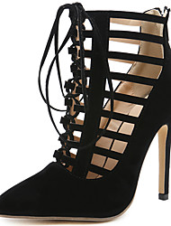 cheap -Women's Shoes Fur Summer / Fall Gladiator / Basic Pump Heels Stiletto Heel Black / Party & Evening