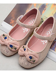 cheap -Girls' Shoes Lace Spring / Fall Flower Girl Shoes Flats for White / Pink