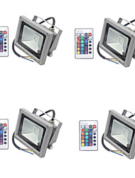 cheap -4pcs 10 W LED Floodlight / Lawn Lights Waterproof / Dimmable / Decorative RGB 85-265 V Outdoor Lighting / Courtyard / Garden