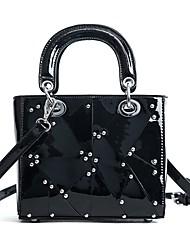cheap -Women's Bags PU Shoulder Bag Zipper for Casual Black / Silver