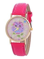 baratos -Mulheres Relógio de Moda Chinês Mostrador Grande PU Banda Casual Preta / Azul / Vermelho / Um ano