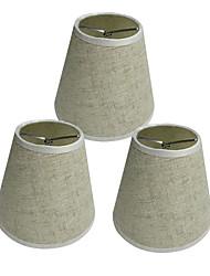 abordables -OYLYW 3pcs 15 cm Accessoire d'ampoule Abat-jour Tissu Oxford