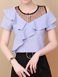 preiswerte -Damen Solide-Grundlegend Street Schick Hemd