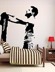 Недорогие -Декоративные наклейки на стены - Стикеры стикеров Words & Quotes Люди стены стикеры Известные картины Футбол Гостиная Детская