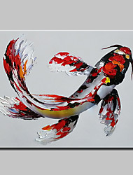 cheap -Oil Painting Hand Painted - Abstract Cartoon Modern Canvas