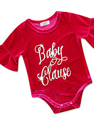 cheap -Baby Girls' Print Half Sleeves One-Pieces