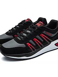 baratos -Homens sapatos Borracha Primavera Verão Conforto Tênis para Ao ar livre Branco / Preto Preto / Vermelho Black / azul