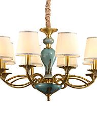baratos -QINGMING® 8-luz Estilo de vela Lustres Luz Superior - Estilo Mini, 110-120V / 220-240V Lâmpada Não Incluída / 15-20㎡ / E12 / E14 / VDE